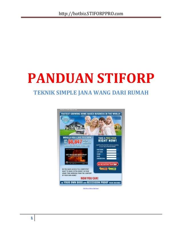 http://hotbiz.STIFORPPRO.comPANDUAN STIFORP    TEKNIK SIMPLE JANA WANG DARI RUMAH1