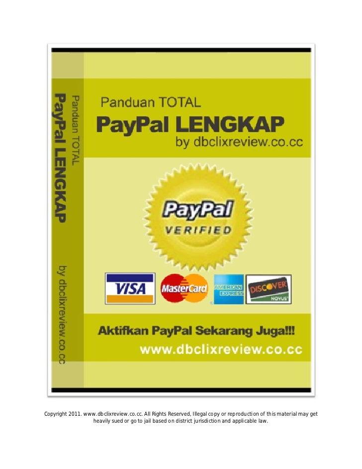 Panduan total pay pal lengkap