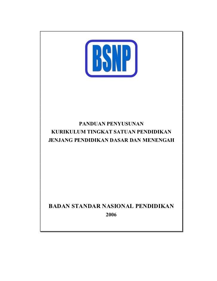 Panduan Umum KTSP