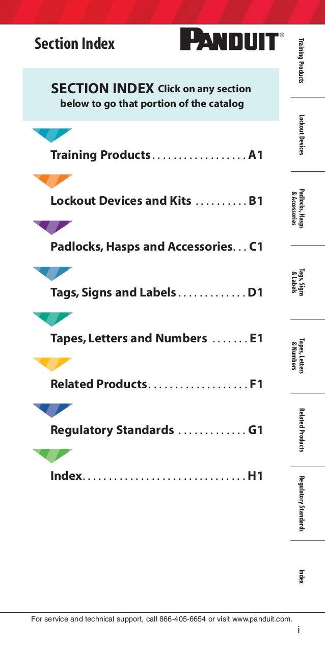 Panduit Lockout Tagout Electrical Safety Catalogue