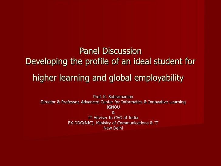 Panel Discussion Educonvex 2009 Feb 2009