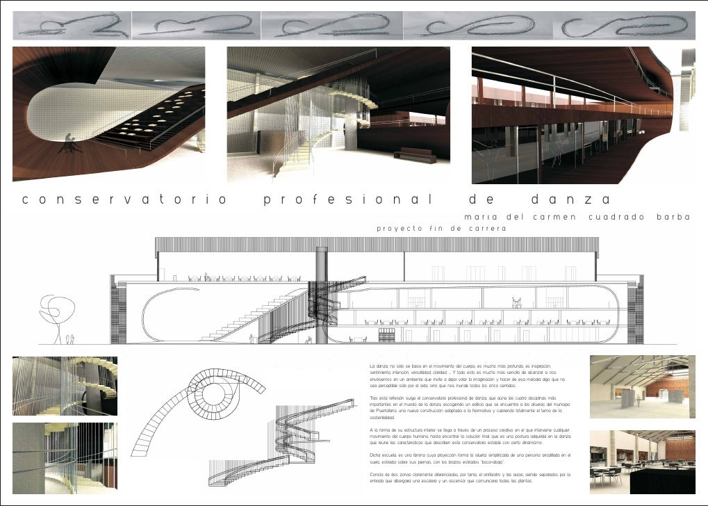 Panel resumen proyecto final carrera escuela profesional - M a interiorismo cb granada ...