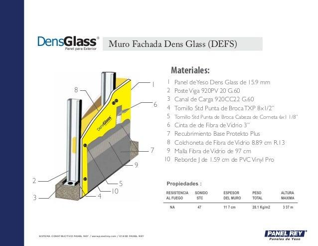 SISTEMA CONSTRUCTIVO PANEL REY / www.panelrey.com / 01 800 PANEL REY Panel deYeso Dens Glass de 15.9 mm PosteViga 920PV 20...