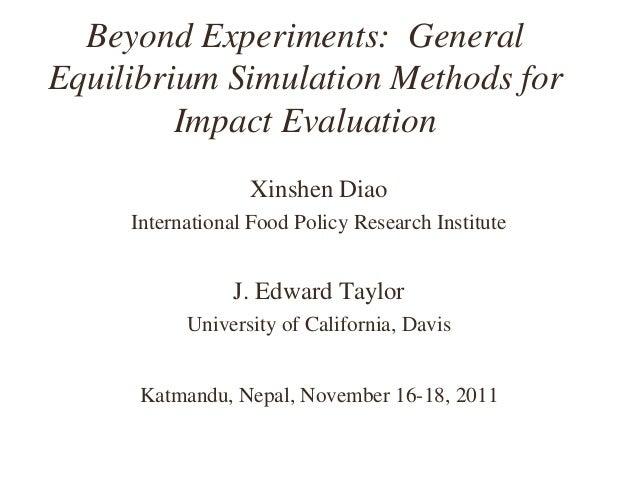 Beyond Experiments: General Equilibrium Simulation Methods for Impact Evaluation