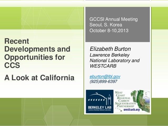 Panel 4. CCS technology - Dr Elizabeth Burton