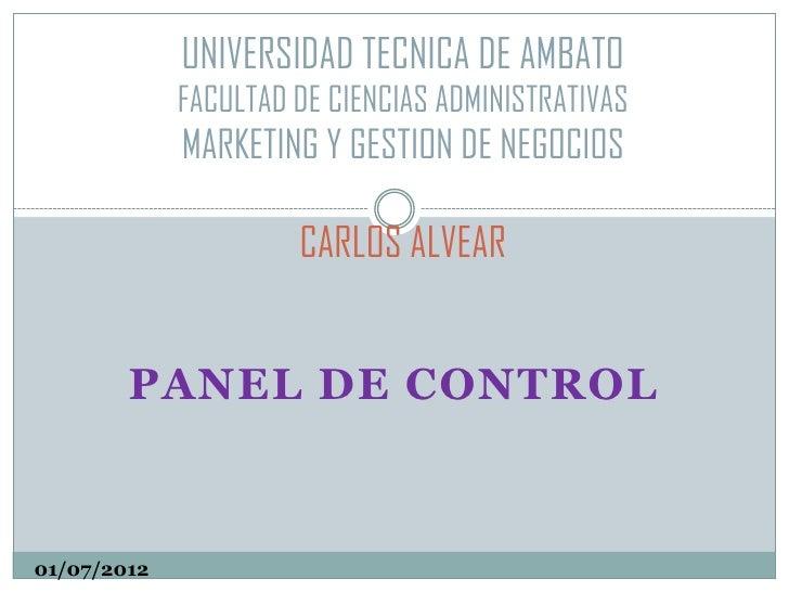 UNIVERSIDAD TECNICA DE AMBATO             FACULTAD DE CIENCIAS ADMINISTRATIVAS             MARKETING Y GESTION DE NEGOCIOS...
