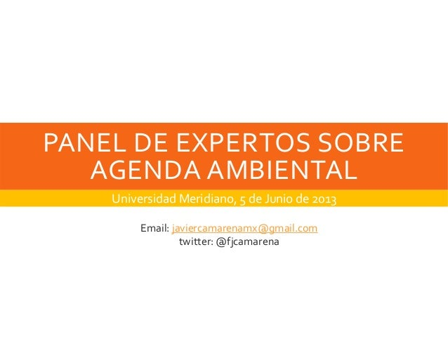 Panel Ambiental en Universidad Meridiano