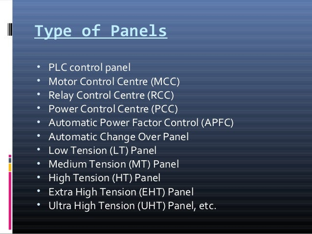 Panel Designing on electrical circuit switches