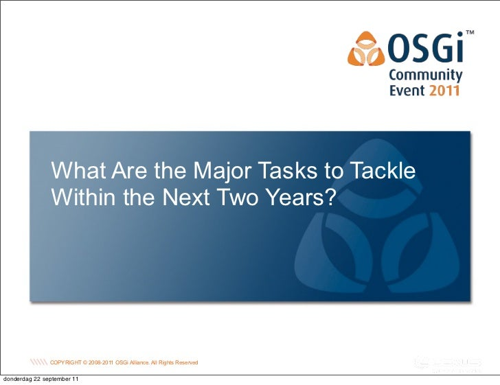 What Are the Major Tasks to Tackle               Within the Next Two Years?                                               ...