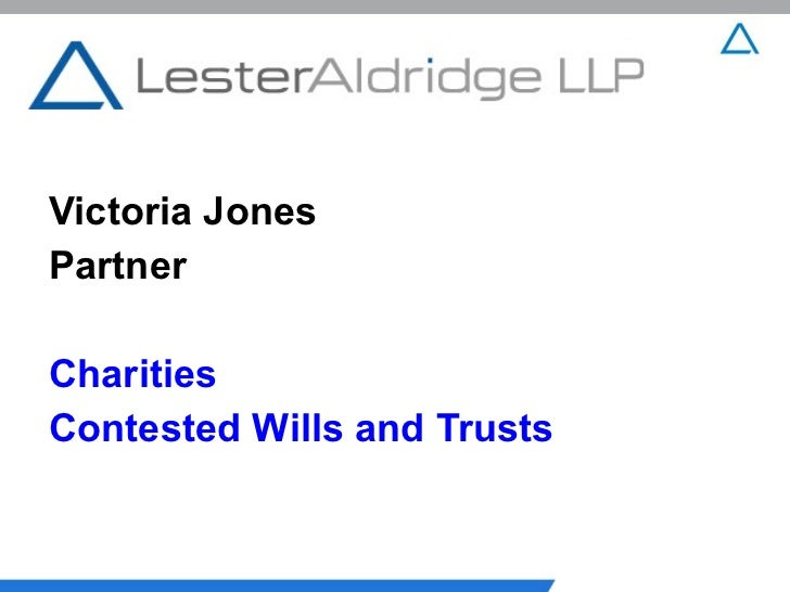 Victoria JonesPartnerCharitiesContested Wills and Trusts
