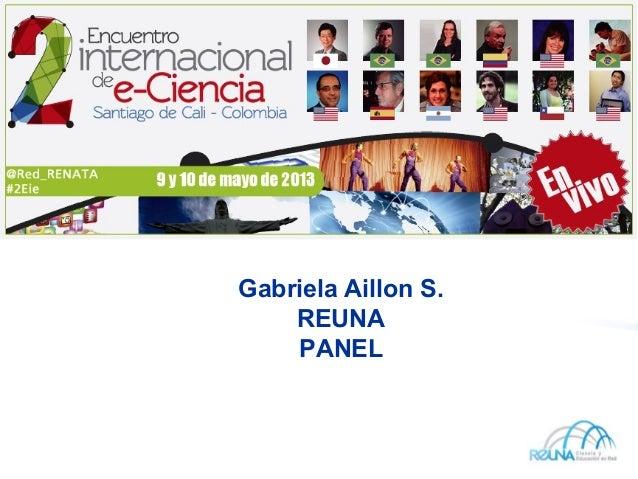 Gabriela Aillon S.REUNAPANEL