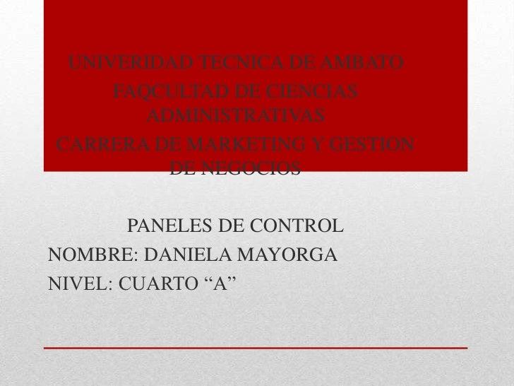 UNIVERIDAD TECNICA DE AMBATO     FAQCULTAD DE CIENCIAS        ADMINISTRATIVASCARRERA DE MARKETING Y GESTION          DE NE...