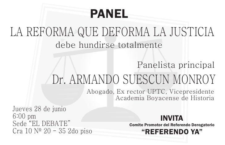 PANELLA REFORMA QUE DEFORMA LA JUSTICIA             debe hundirse totalmente                                        Paneli...