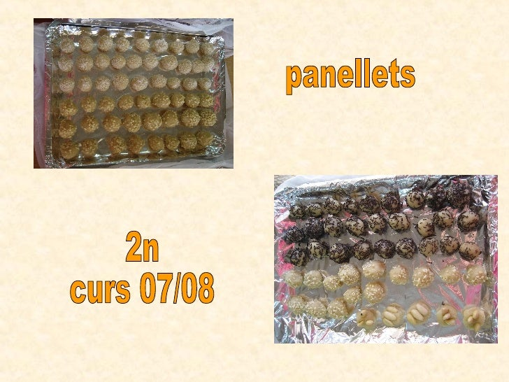 panellets 2n curs 07/08