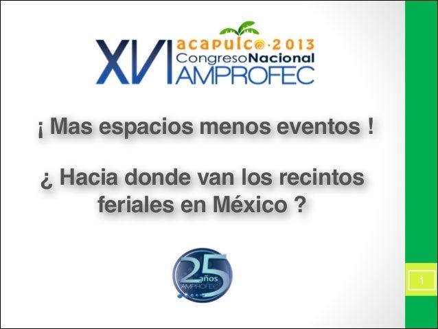 Panel: ¡Más espacios, menos eventos! ¿Hacia donde van los recintos feriales en México?
