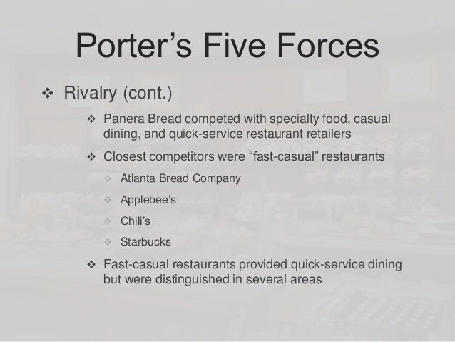 supply chain of panera bread Panera bread company  in only select stages of the industry's value chain restaurant distributors must go to  panera uses a network of 17 regional dough.