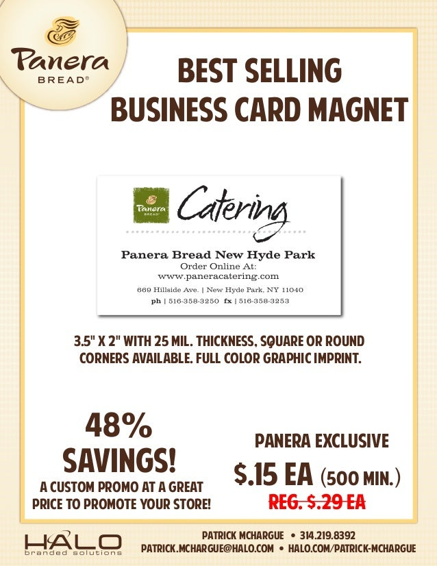 BEST SELLING BUSINESS CARD MAGNET Patrick McHargue • 314.219.8392 patrick.mchargue@halo.com • HALO.com/Patrick-McHargue A ...