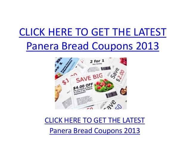 Panera Bread Coupons 2013 - Printable Panera Bread Coupons 2013