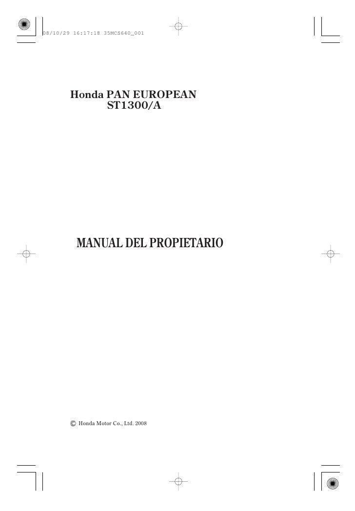 08/10/29 16:17:18 35MCS640_001             Honda PAN EUROPEAN               ST1300/A               MANUAL DEL PROPIETARIO ...