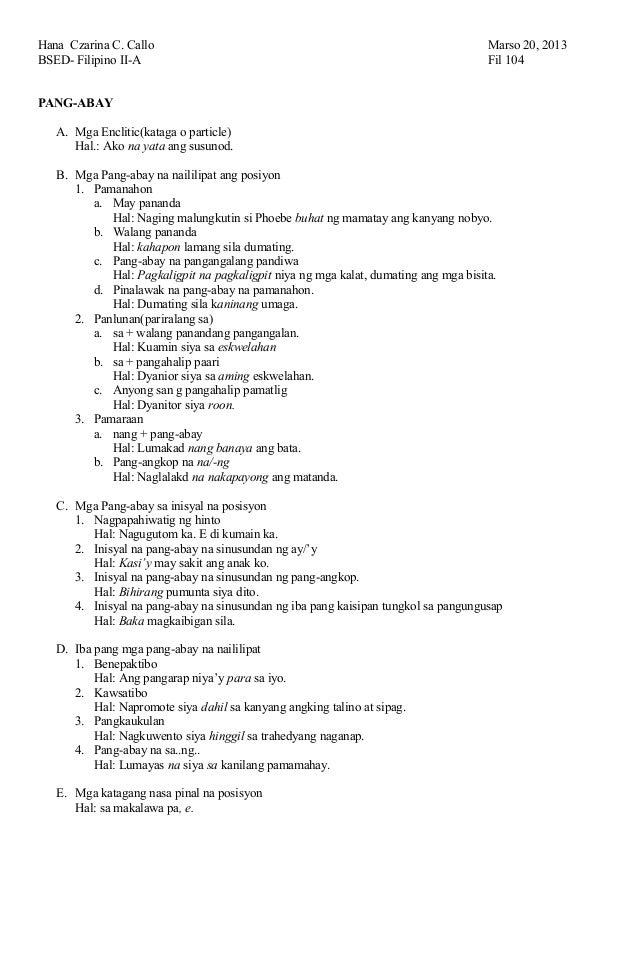 math worksheet : pang abay sample : Lesson Plan In Filipino Grade 3 ...