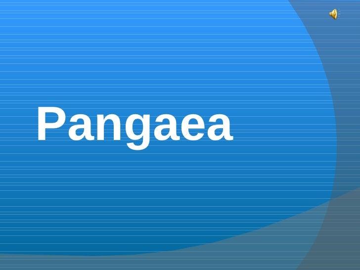 Pangaea.presentation shaina