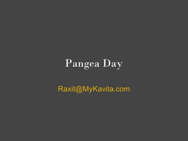 Pangea Day !