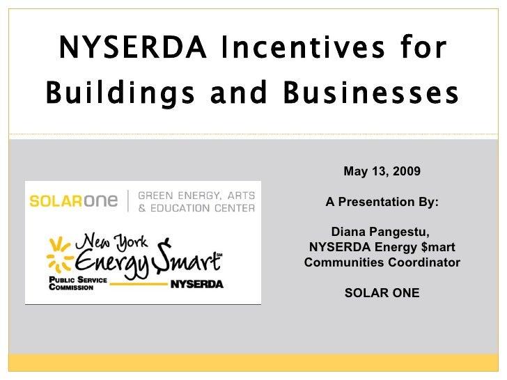 Sustainability Incentives presentation