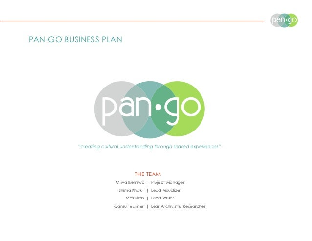 PAN-GO BUSINESS PLAN                           THE TEAM                  Miwa Ikemiwa | Project Manager                   ...