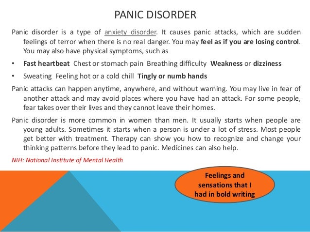 causes and treatment of panic attacks