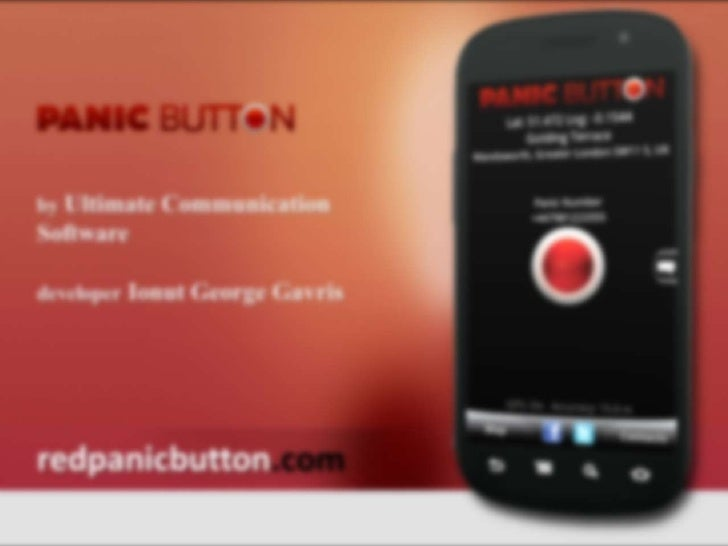 Red panic Button Emergency App for iPhone & Android