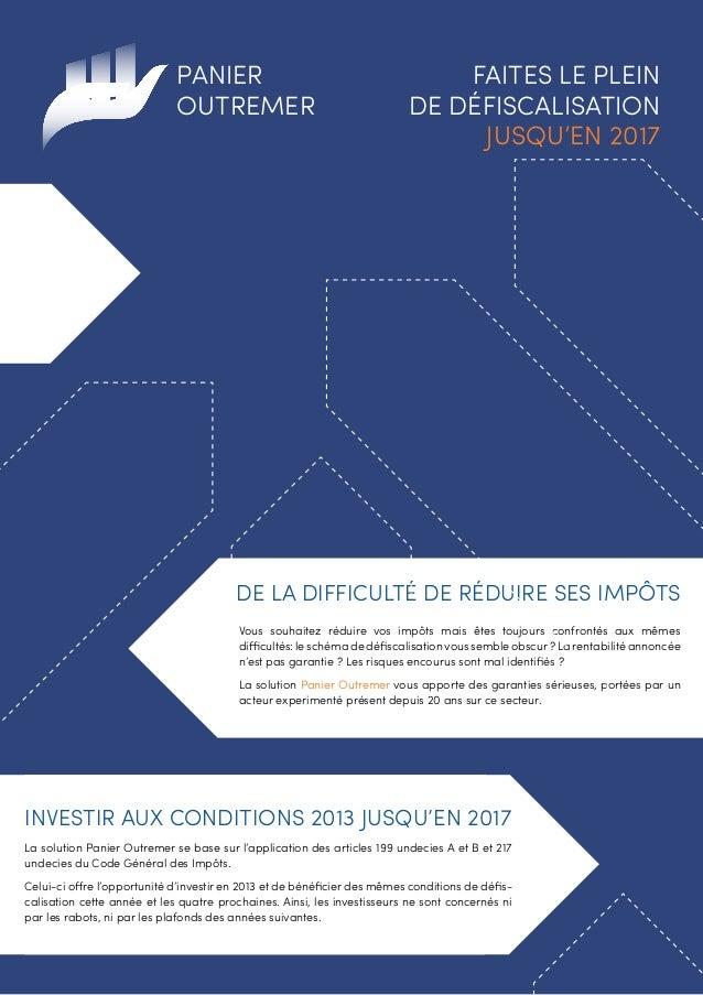 Panier Outremer, faîtes le plein de défiscalisation jusqu'en 2017.