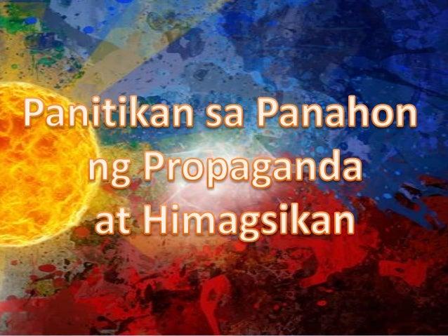 Panitikan sa panahon ng propaganda