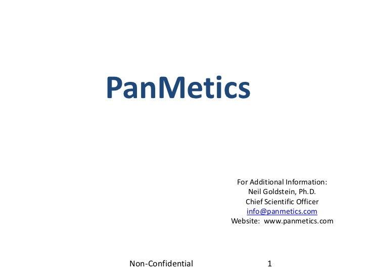 Pan metics non confidential 2-21-12