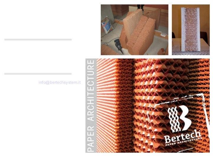 AZIENDA CHI SIAMO BERTERO TECHNOLOGIES S.a.s. di Bertero Sebastiano Via Cartignano, 11 • 12100 Cuneo • Italy tel. 39 0171 ...