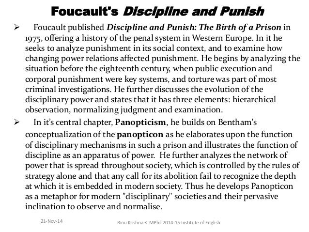 an analysis of civilizations in foucaults panopticism Panopticism is a social theory named after the panopticon this kind of anticipation is particularly evident in emergent surveillance technologies such as social network analysis the 'synopticon' concerns the surveillance of the few by the many.
