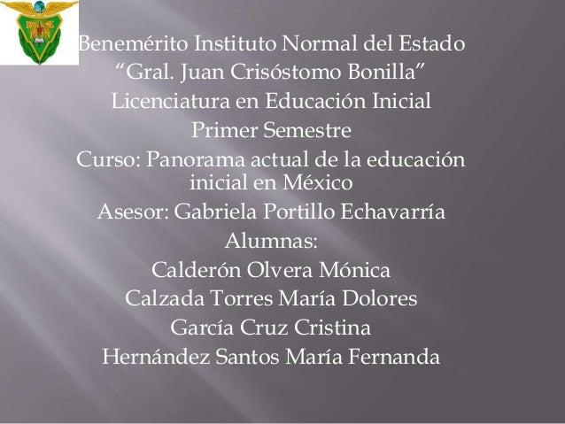 """Benemérito Instituto Normal del Estado  """"Gral. Juan Crisóstomo Bonilla""""  Licenciatura en Educación Inicial  Primer Semestr..."""