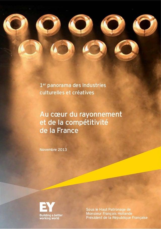 1er panorama des industries culturelles et créatives Au cœur du rayonnement et de la compétitivité de la France Novembre 2...