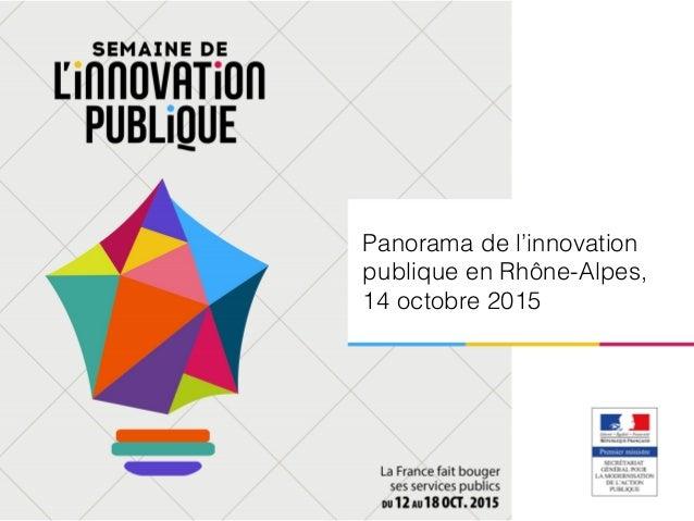 Panorama de l'innovation publique en Rhône-Alpes, 14 octobre 2015