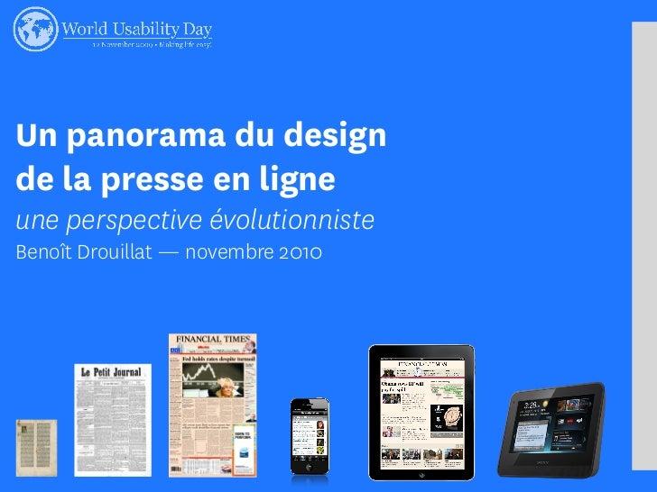 Un panorama du design de la presse en ligne une perspective évolutionniste Benoît Drouillat — novembre 2010
