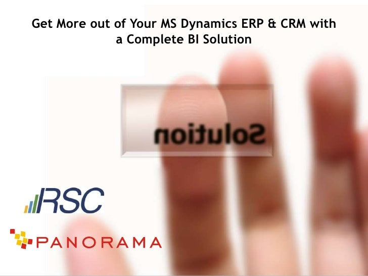 Extend Your MS Dynamics ERP & CRM with a Complete BI Solution
