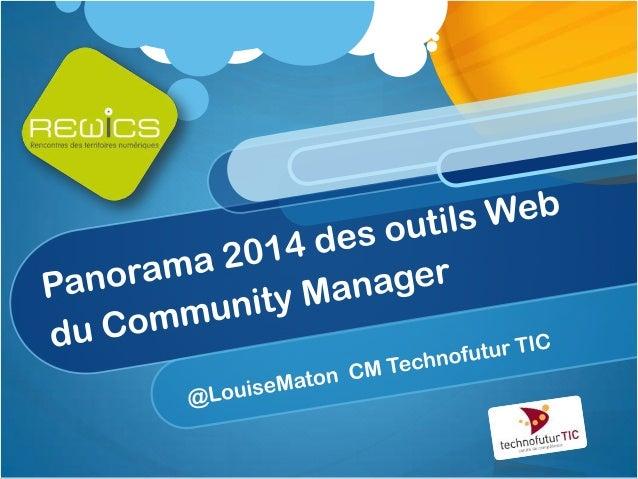 Panorama 2014 du community manager