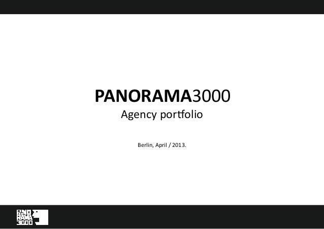 Panorama3000 Agency Presentation english