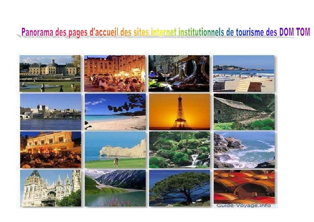 Panorama Des Pages Daccueil Des Sites Institutionnels De Tourisme Des Dom Tom