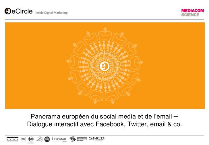 Panorama européen du social media et de l'email ─Dialogue interactif avec Facebook, Twitter, email & co.