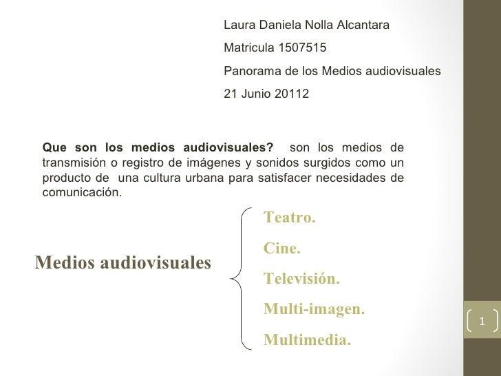 Laura Daniela Nolla Alcantara                              Matricula 1507515                              Panorama de los ...