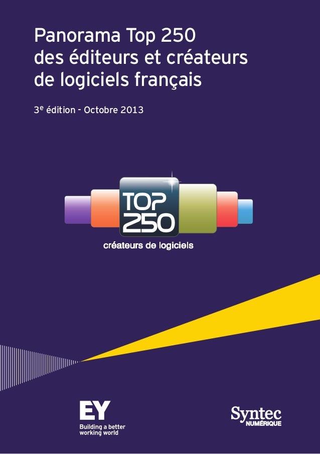 Panorama top 250 editeurs et créateurs de logiciel Francais EY Syntec numérique 2013