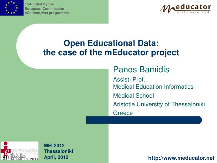 co-funded by theEuropean CommissioneContentplus programme              Open Educational Data:         the case of the mEdu...