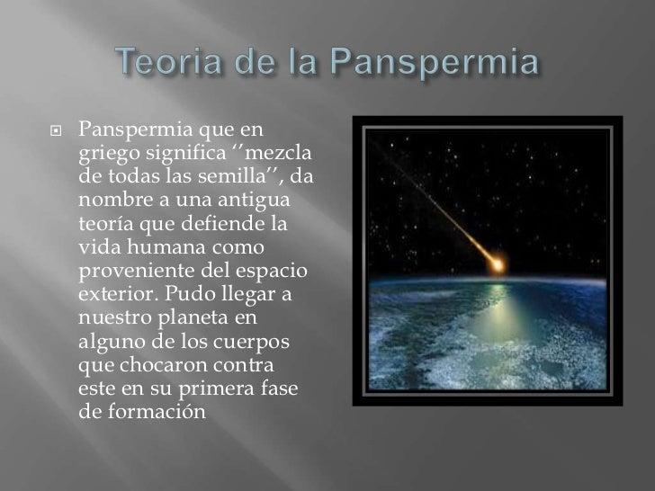 Panspermia for Que significa exterior