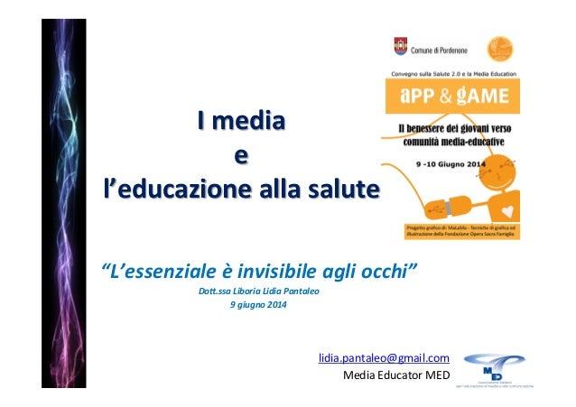 """Convegno """"APP & GAME Il benessere dei giovani verso comunità media-educative""""  9-10 Giugno 2014 Ex Convento S. Francesco Pordenone"""