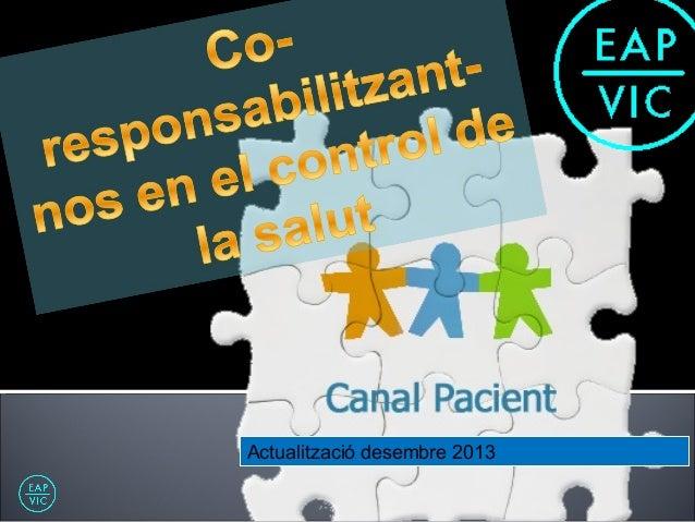CANAL PACIENT_ Presentació en Pantalles
